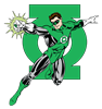 Green Lantern with Logo