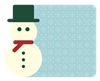 Retro Snowman & Snow Patterns