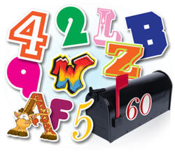 Letter Number Stickers