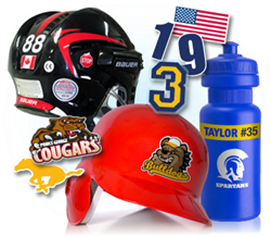 Sports Helmet team stickers