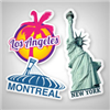 New York City, Toronto, Montreal, London, or Paris… No matter your favorite city, there's a sticker for it! Personalize your luggage with city stickers for all the places you've been, or want to go to. If you like to scrapbook your memories once you're home from your trip, you can customize each sticker to make it the right size to fit your pages, and to get the exact stickers you want for every page.