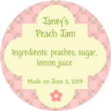 Peach Jam Label