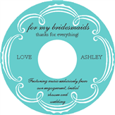 Bridesmaid CD Label