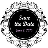 Save the Date Damask