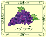 Victorian Grape Jelly Label