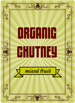 Victorian Chutney Tall Label