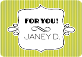 A gift For You Name Label