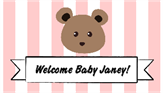 Bear Baby Shower Label