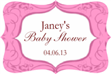 Fancy Baby Shower Label