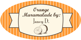 Orange Marmalade Label