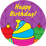 Cupcakes Birthday Label