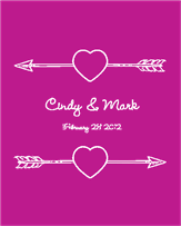 Cupids Arrow Wedding Label