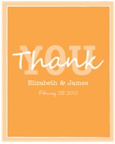 Elegant Thank You Wine Label