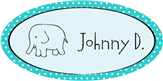 Elephant Name Label
