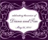 Floral Frame Wine Label