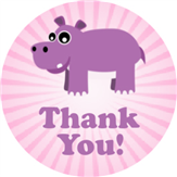 Hippo Thank You Label