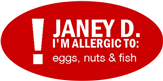 Oval Fish Allergy Label