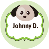 Round Puppy Kids Label