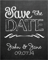 Save the Date Chalk Wine Label