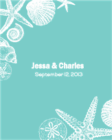 Sea Shell Wedding Label