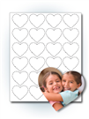 "1.7"" Heart Photo Stickers"