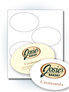 "4.5"" x 3"" Oval Labels"