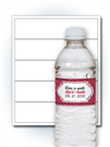Water Bottle Wrap Labels