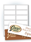"4"" x 1.5"" Rectangle Labels"