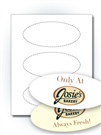 "6"" x 2.625"" Oval Stickers"
