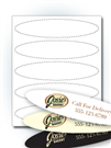 "8"" x 1.75"" Oval Stickers"